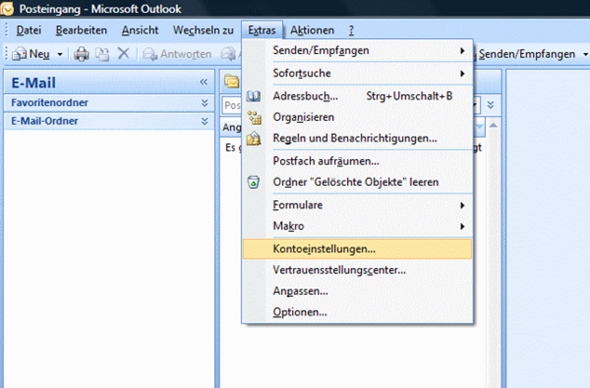 Anleitung zum E-Mail-Konto einrichten - Microsoft Outlook 8