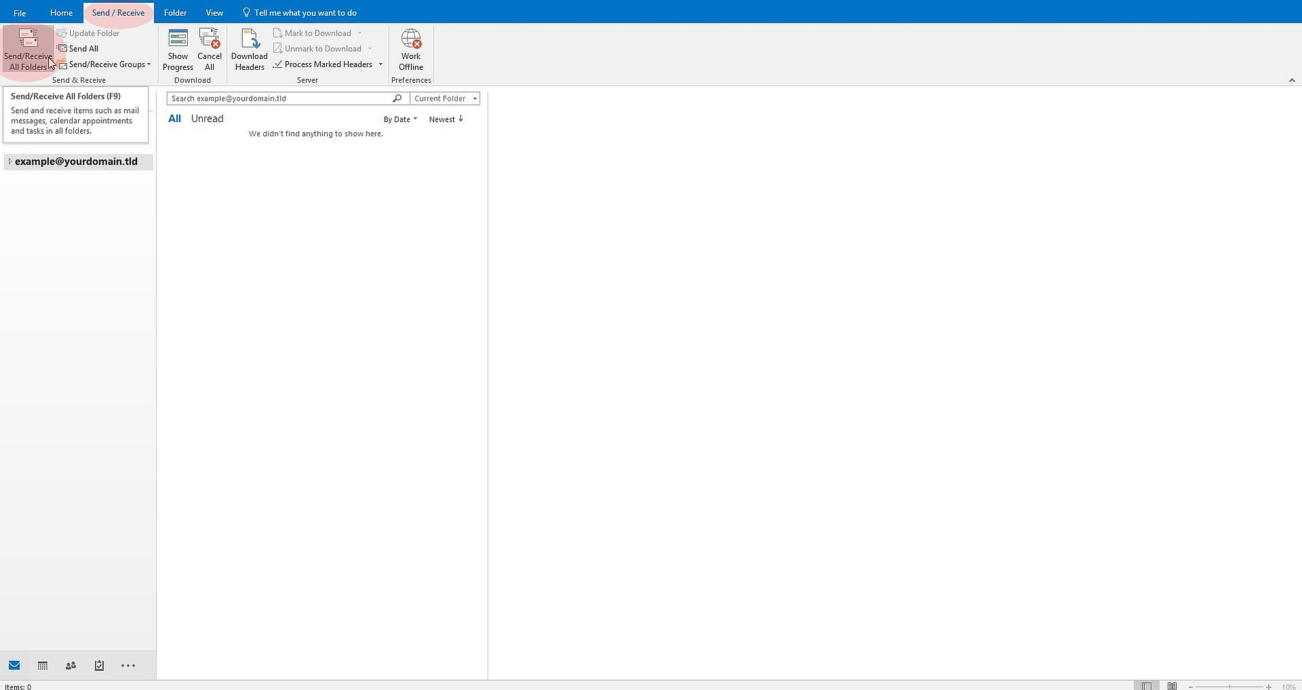 Set up new IMAP e-mail account in Microsoft Office Outlook 2016
