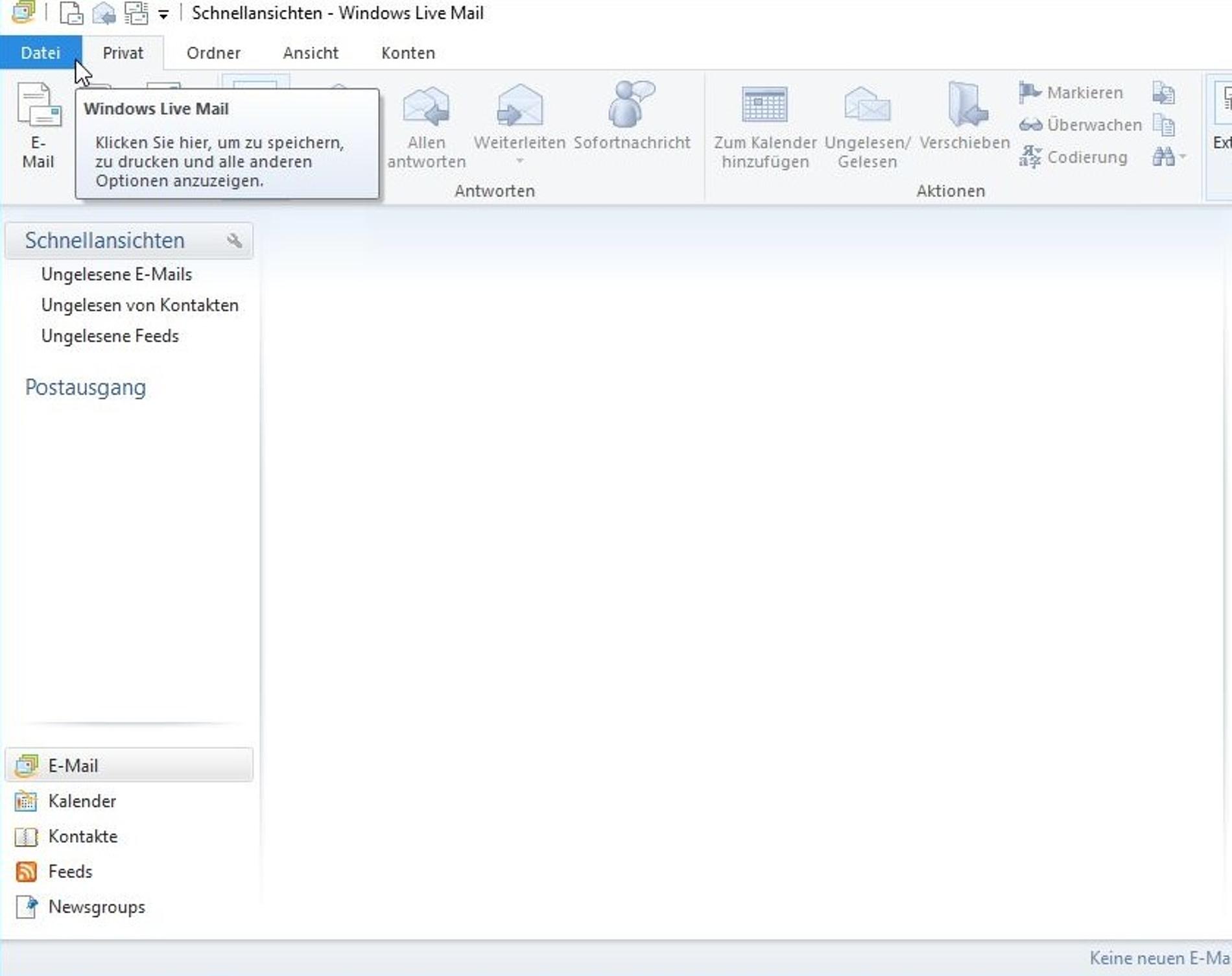 Anleitung - neues E-Mail-Konto einrichten - Windows Live Mail