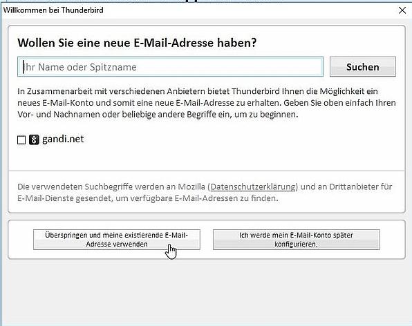 Anleitung - neues E-Mail-Konto einrichten - Mozilla
