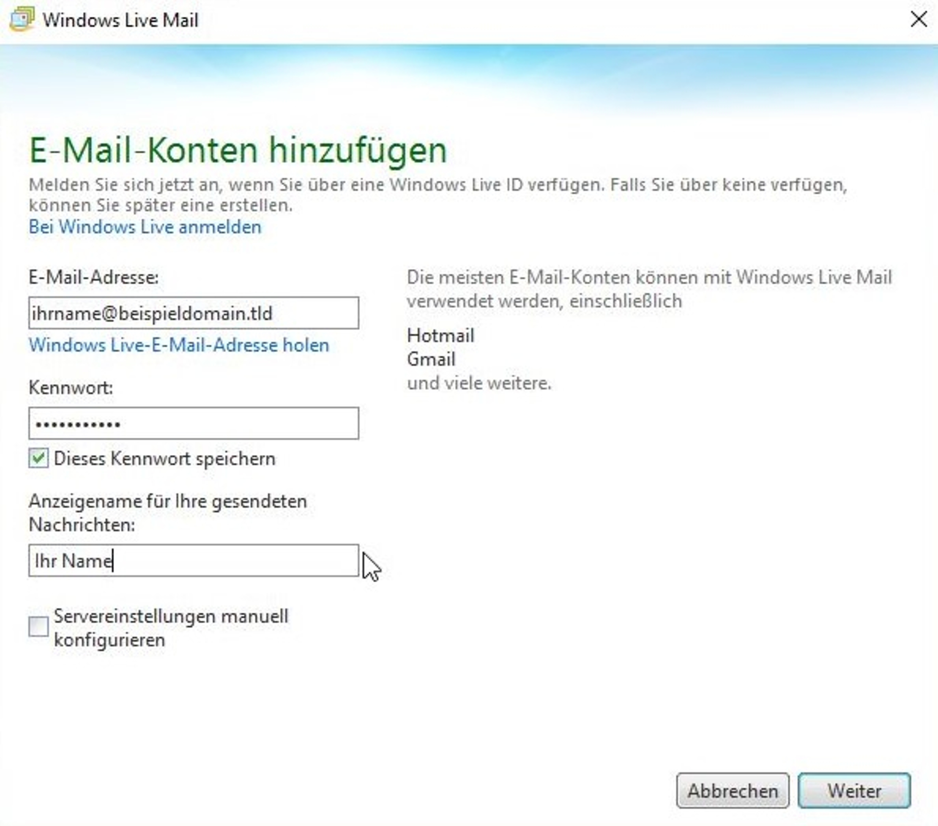 windows id anmelden