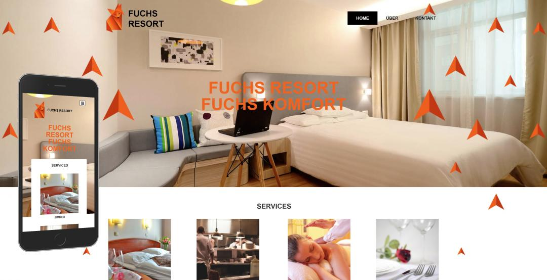 Create a responsive hotel website, design pattern 2