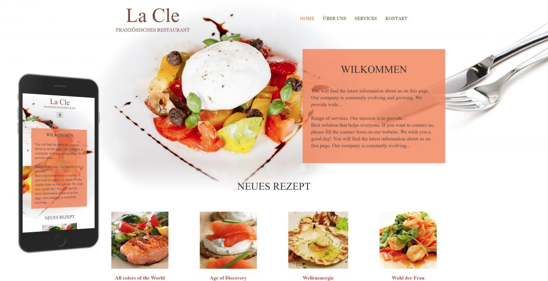 Create a responsive food website, design pattern 2
