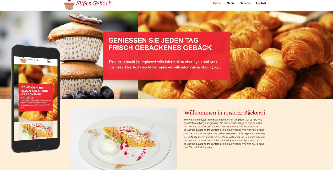 Create a responsive food website, design pattern 3