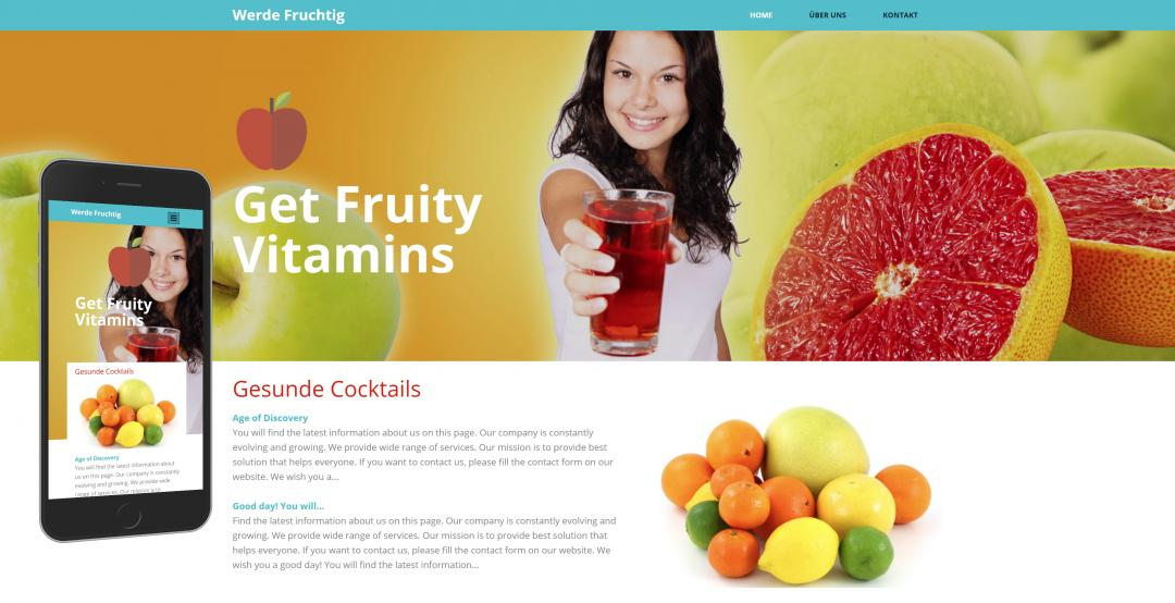 Create a responsive food website, design pattern 4