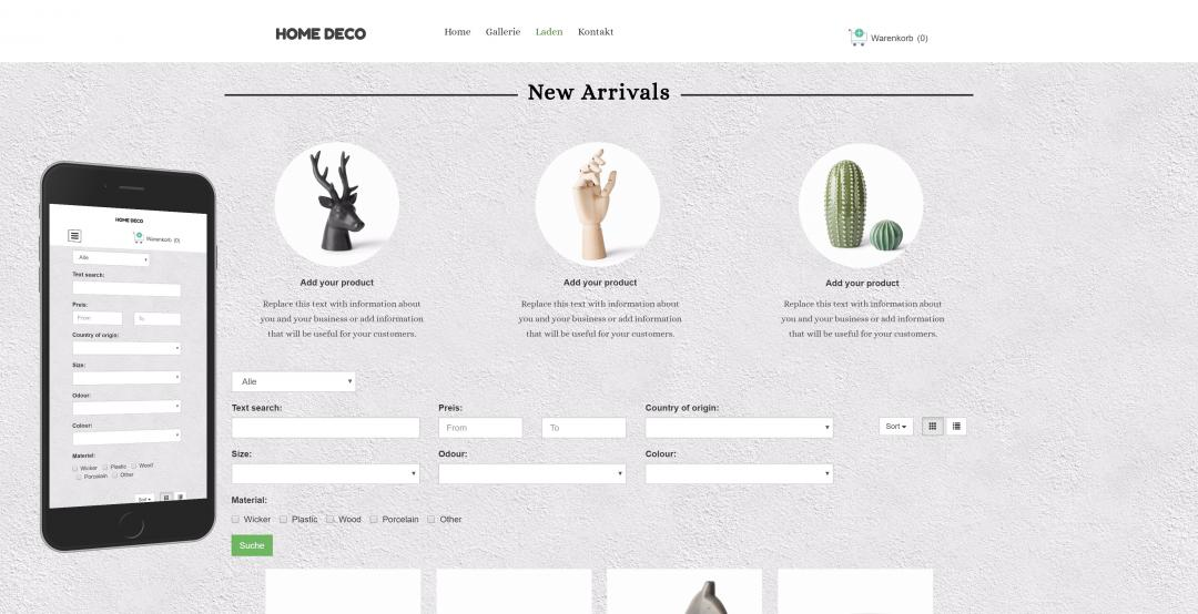Create an onlineshop, design pattern 2