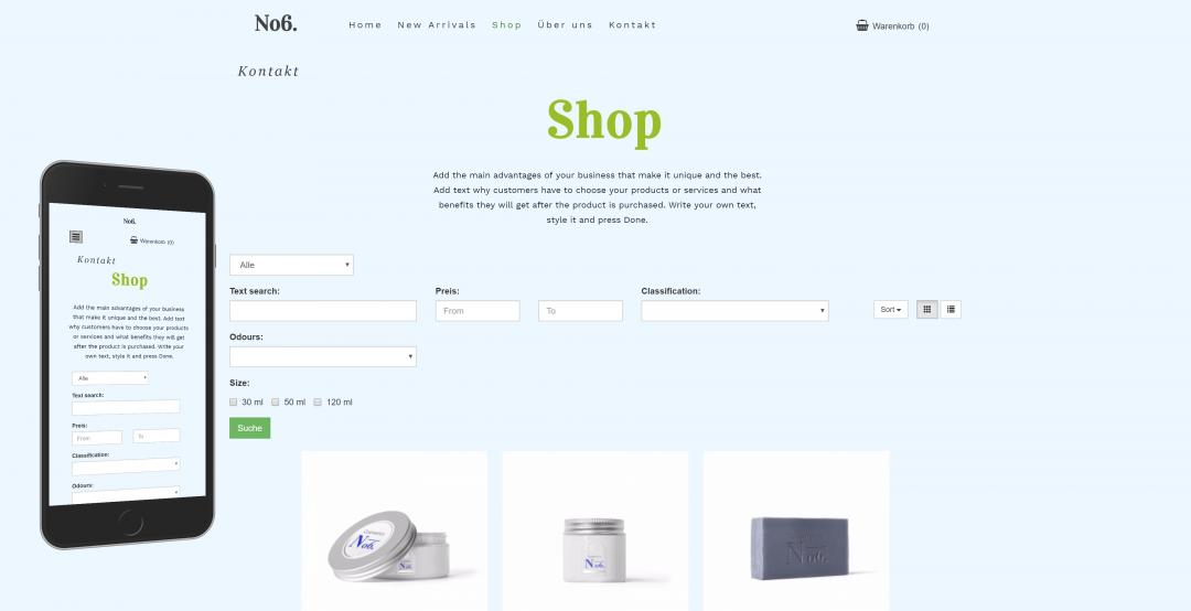 Create an online shop, design pattern 3